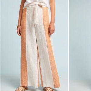 Anthropologie ett twa striped linen trousers pants
